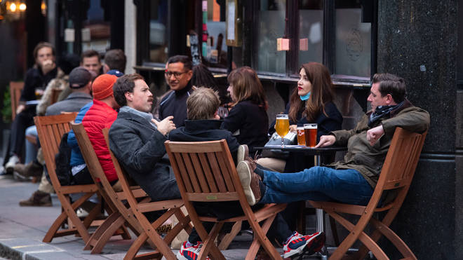 People may be allowed to have a pint outdoors in the Spring
