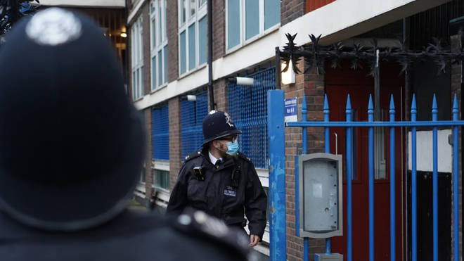 Police in London broke up an illegal gathering of up to 40 people in Wandsworth (file photo)