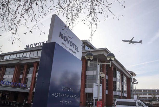 Novotel Heathrow T1 T2 T3 hotel , which is being prepared for use as a Government-designated quarantine hotel when the scheme comes into effect on Monday