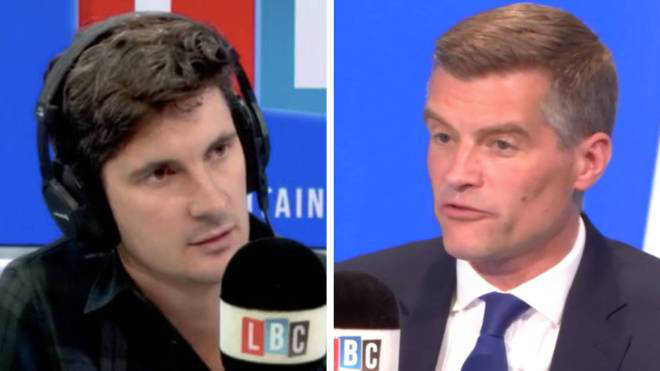 Mark Harper told LBC Brits shouldn't need vaccine passports to go about their lives