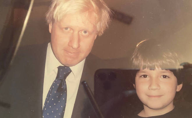 Sven Badzak pictured with Boris Johnson