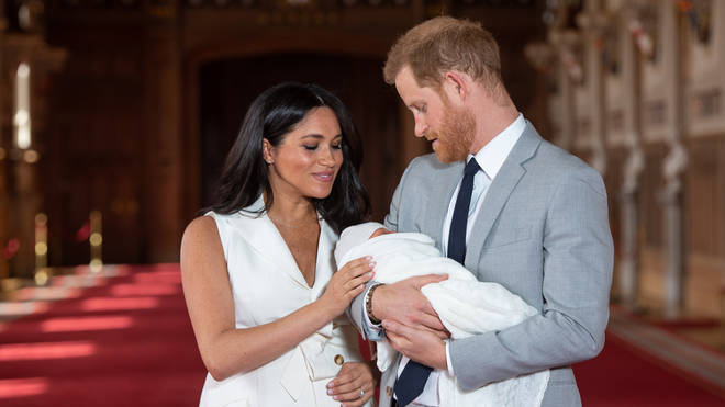 Harry and Meghan with baby son Archie in 2019