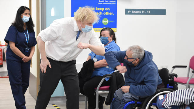 Boris Johnson made the comments during a visit to a coronavirus vaccination centre at the Health and Well-being Centre in Orpington