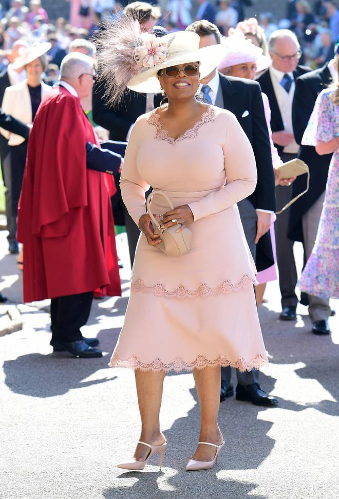 Oprah Winfrey pictured at their wedding in May 2018