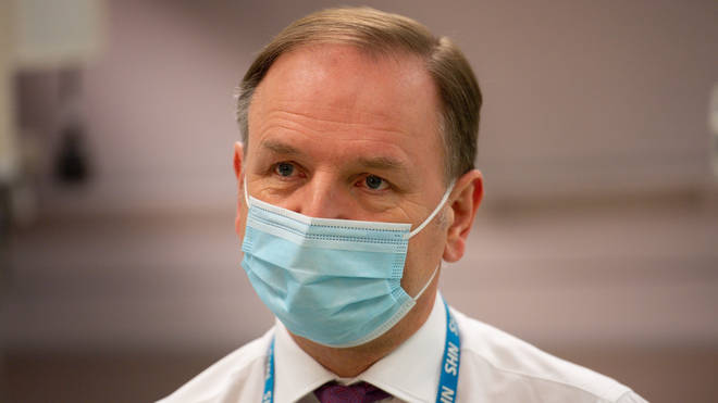 "Sir Simon Stevens said the country is up against a ""dual epidemic"" and must fight both the virus and disinformation"