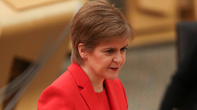 Nicola Sturgeon is speaking in Scottish Parliament today