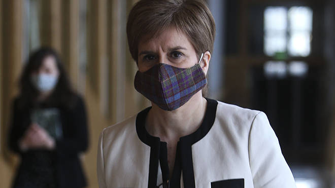 The First Minister is expected to talk about the phased reopening of schools