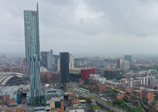 Officers were called to a flat party inside Beetham Tower in Manchester