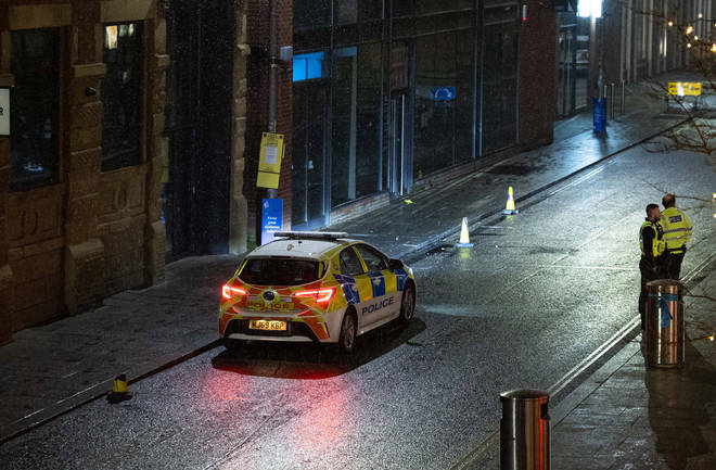 Police crashed a Covid-breaching party in Manchester on Saturday