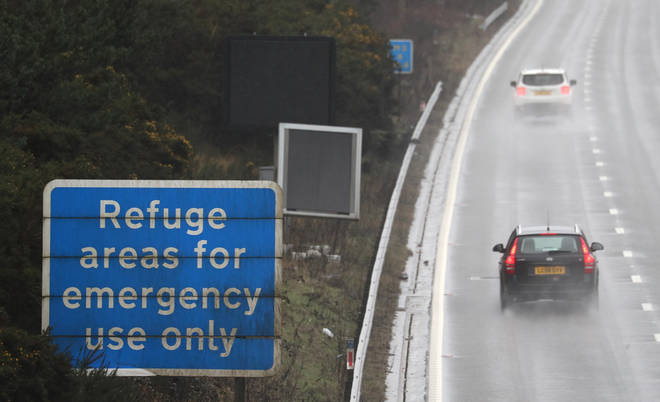 File photo: Part of the M3 has also been converted into a smart motorway