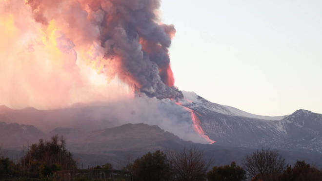 Mount Etna has erupted, spewing a plume of ash into the sky