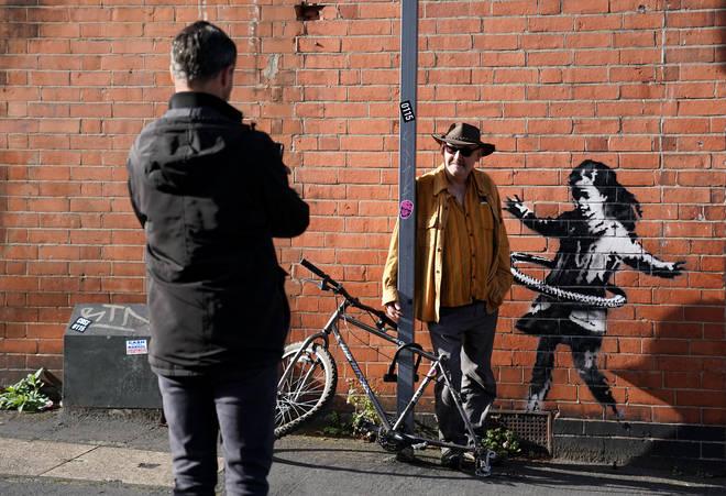 The Banksy artwork originally appeared in Lenton, Nottingham