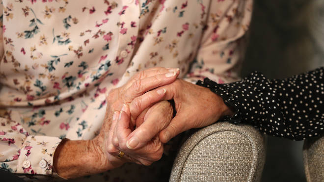 """The minister said she hopes people can """"hold hands with relatives"""" in care homes soon"""