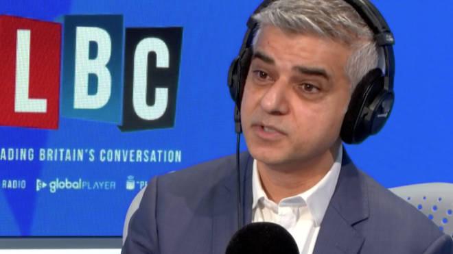 Sadiq Khan spoke to James O'Brien on LBC