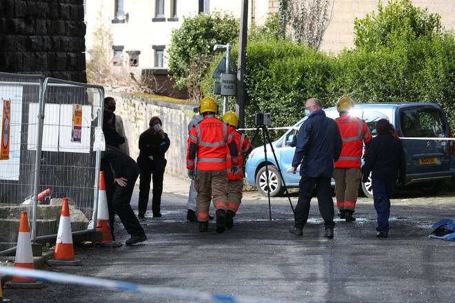 Police, fire and council officials are investigating the incident