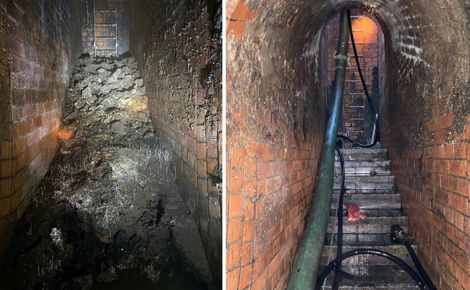 The enormous fatberg was removed over two weeks