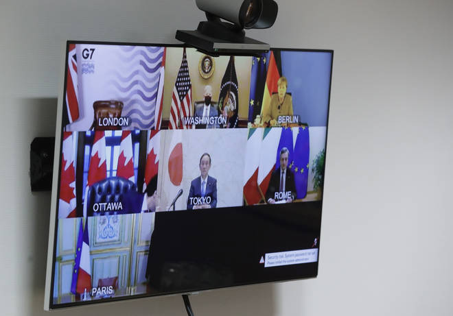 Leaders of the G7 countries held a virtual meeting on Friday
