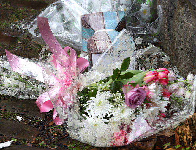 Flowers have been laid outside Hazel's home in Summerseat