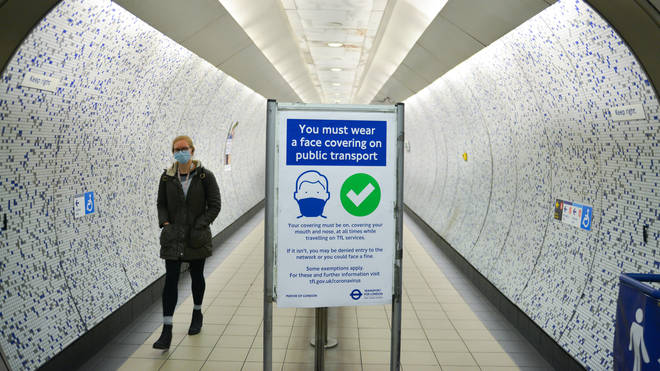 Strict rules have been in force on the tube throughout the pandemic