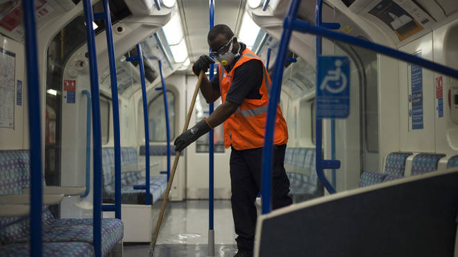 Transport for London has been deep cleaning the Underground on a regular basis