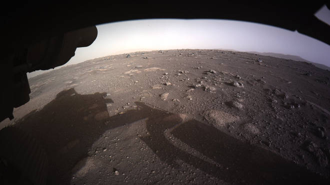 Nasa's Mars Perseverance rover has sent this fascinating colour image from the planet's surface