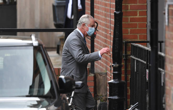 Prince Charles arrives to visit his father the Duke of Edinburgh in hospital