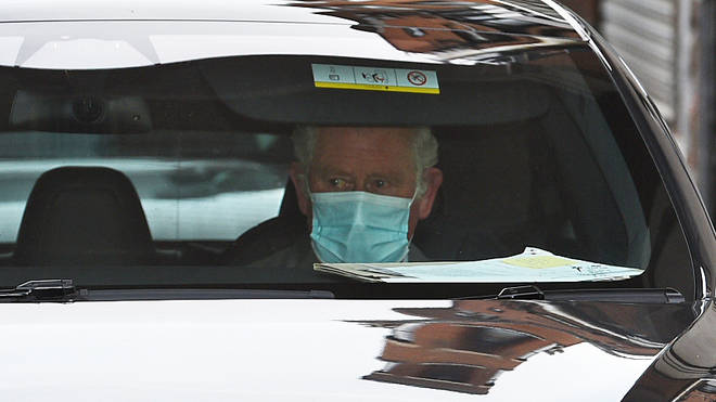 Prince Charles stayed for around 30 minutes before departing