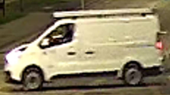 police are also keen to trace the driver of a van which was seen on CCTV stopping briefly near the scene
