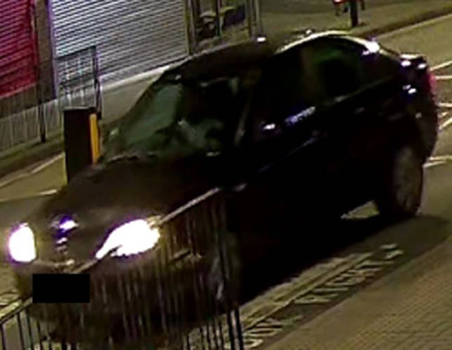 Police want more info on ablack Ford Mondeo, using registration number YR54 NHN - which was seen on CCTV driving away from the scene and found burnt out