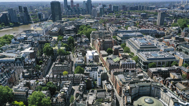 A view of central London