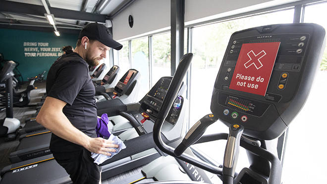Gyms in England and the UK already have strict rules in place following lockdown