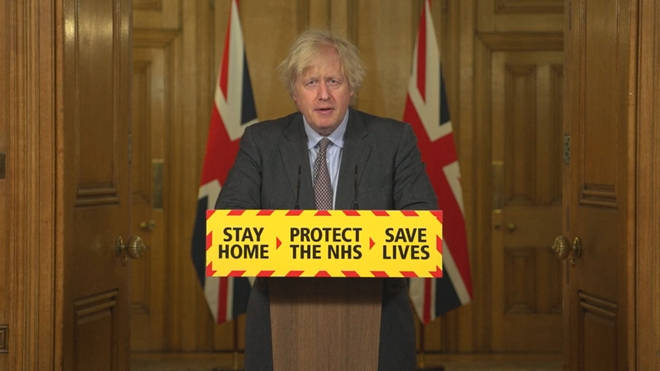 """Boris Johnson earlier today announced his """"roadmap"""" to come out of lockdown"""