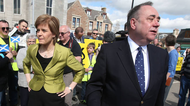 Nicola Sturgeon (left) says there is no evidence to back up Mr Salmond's (right) claims