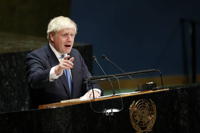 Prime Minister Boris Johnson has warned that climate change threatens global peace