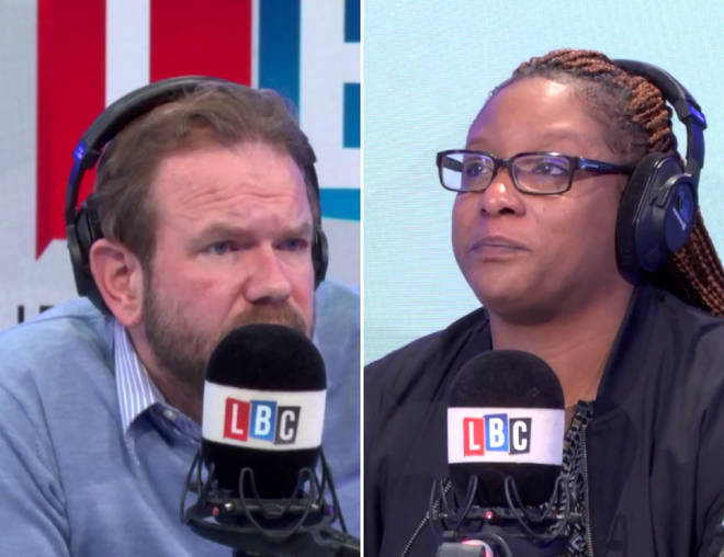 James O'Brien with CJ's mother Keisha McCloud