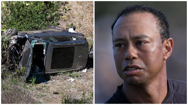 Golfer Tiger Woods was involved in a car crash on Tuesday