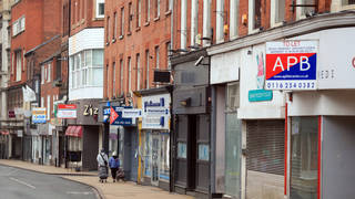 Many shops remain closed on the High Street in Leicester during England's third national lockdown