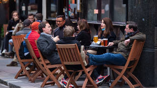 People can drink outdoors and takeaway pints will be allowed from April 12
