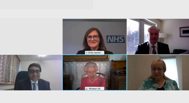 The monarch was speaking with the four health officials leading the jab rollout in the four UK nations