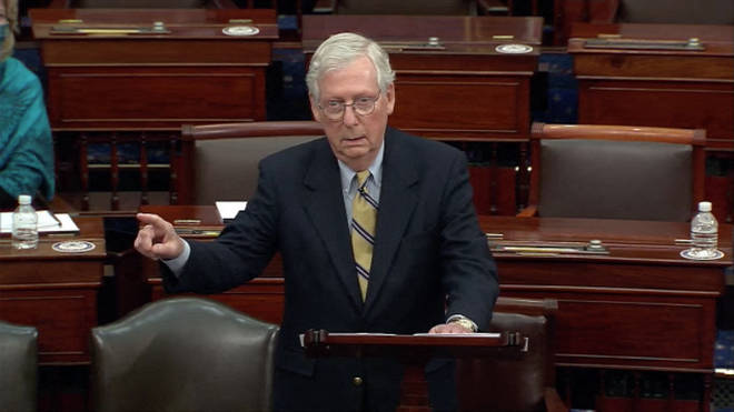 """Senate Minority Leader Mitch McConnell has said he would """"absolutely"""" support Donald Trump if he secures the Republican nomination in 2024"""