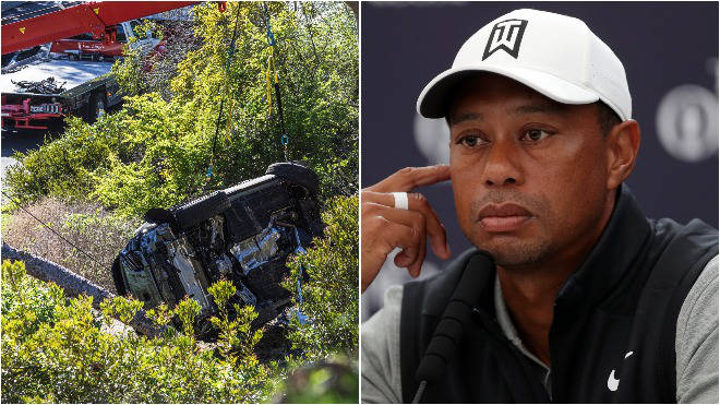 Tiger Woods crashed his car in LA