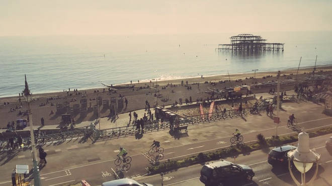 Passers-by in Brighton were concerned to see crowds at the beach