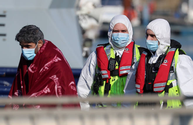 Dozens of people thought to be migrants crossed the Channel on Saturday