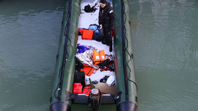 Four boats were used to transport dozens of people thought to be migrants