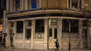 Closed pubs and restaurants in Shoreditch, east London (Dominic Lipinski/PA)