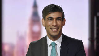 Chancellor Rishi Sunak on The Andrew Marr Show