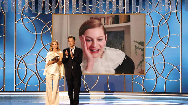 Emma Corrin wins Best Television Actress – Drama Series award for 'The Crown' at the 78th Annual Golden Globe Awards