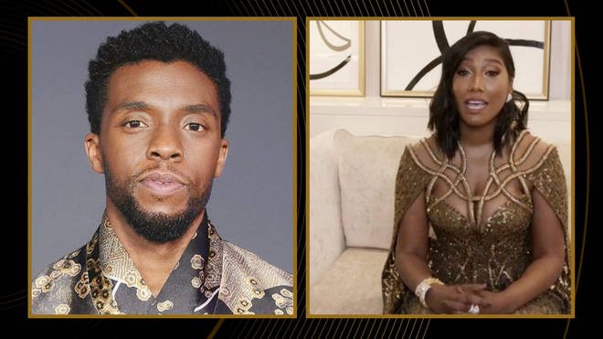 Chadwick Boseman's widow delivered a tear-jerking acceptance speech on his behalf after he won best actor for Ma Rainey's Black Bottom