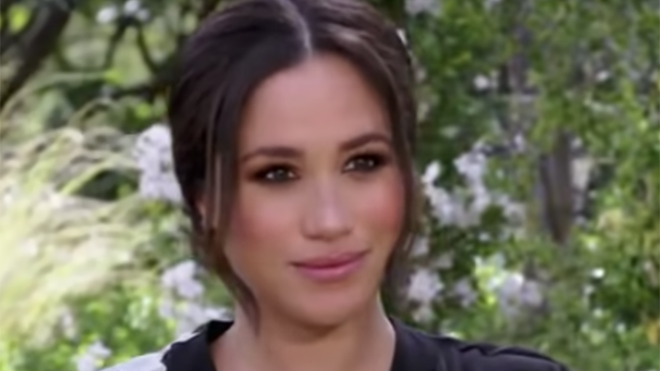 Meghan Markle does the first part of the interview alone