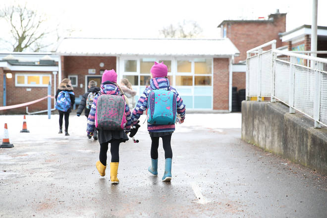 File photo: Pupils arriving at Manor Park School and Nursery in Knutsford